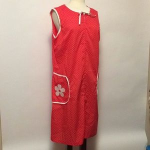 Vintage Red Polka Dot Housedress